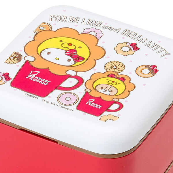 2 stage lunch box bento pon de lion hello kitty mister donut sanrio ja very. Black Bedroom Furniture Sets. Home Design Ideas