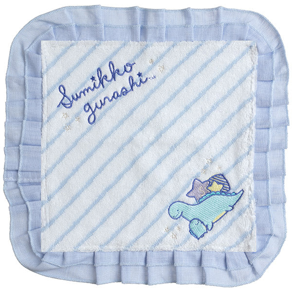 Sumikko Gurashi mini Towel Blue Tokage Lizard's Dream San-X Japan