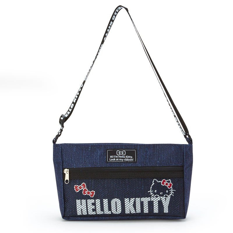 Hello Kitty Denim style mini Shoulder Bag Navy Sanrio Japan