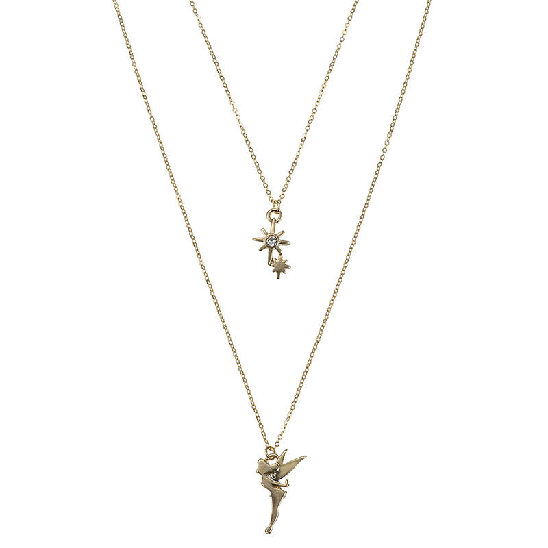 Tinker Bell Necklace Layered style Disney Store Japan Peter Pan