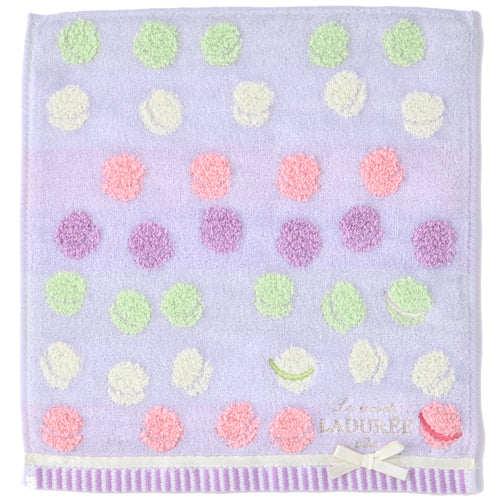 Towel Handkerchief Jacquard Macarons Gray Laduree Japan