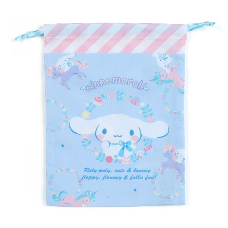 Cinnamoroll Drawstring Pouch M Unicorn Sanrio Japan