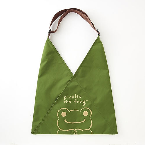 Pickles the Frog A-BAG Eco Shopping Tote Bag Face Olive Japan