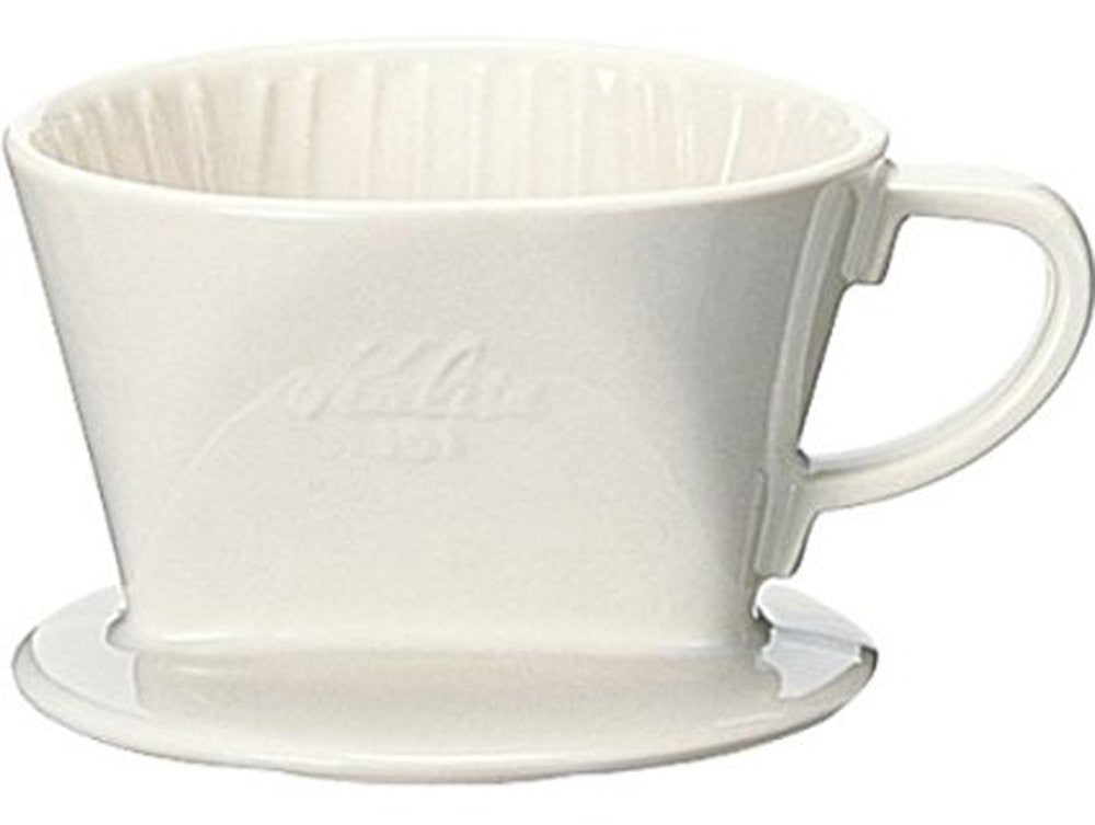 Ceramic Coffee Dripper 101-Lotto 01001 White Kalita Japan