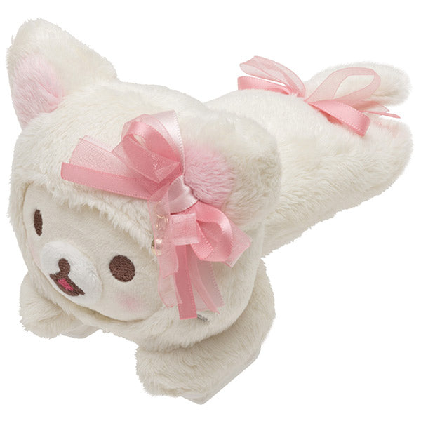 Korilakkuma in the Mirror Plush Doll Clip Pink San-X Japan