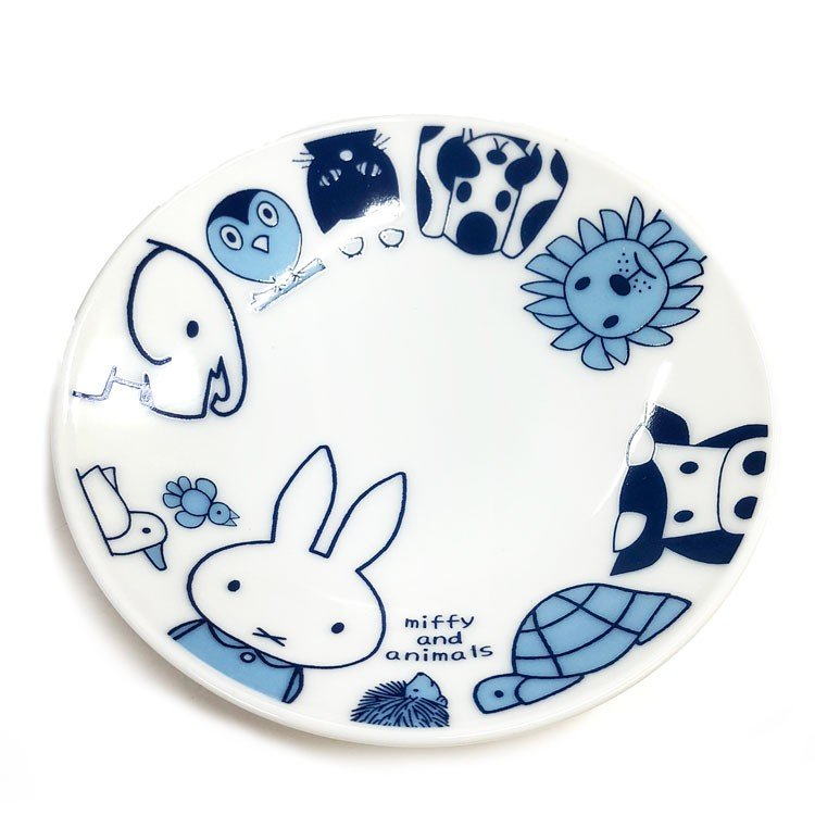 Ceramic mini Plate Miffy & Animals Japan