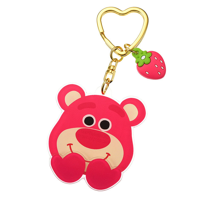 LOTS O HUGGIN Bear Keychain Die-Cut Face & Hand Disney Store Japan Toy Story