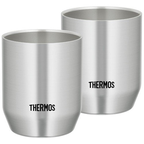 Vacuum double structure Stainless Tumbler 360ml JDH-360P-S 2pcs Thermos Japan