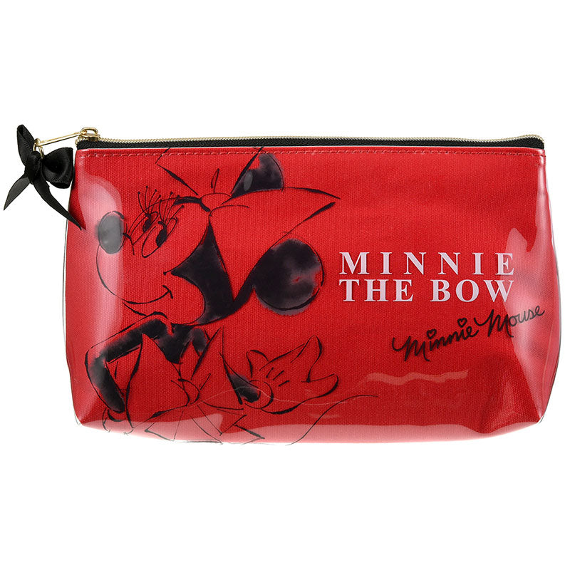 Minnie Pen Case Pencil Pouch Red Ribbon Disney Store Japan