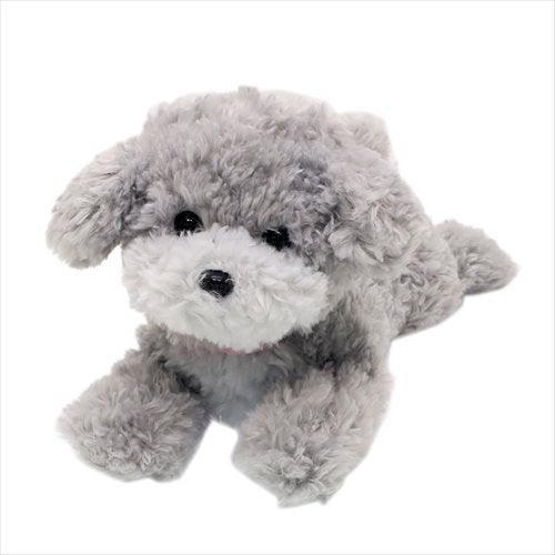 Hizawanko Knee Dog Toy Poodle Plush Doll Gray Sunlemon Japan