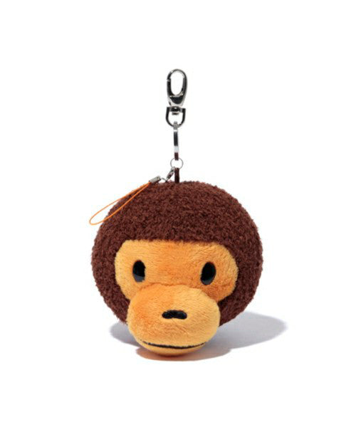 KEYCHAIN FC PLUSH MI Brown A BATHING APE Japan