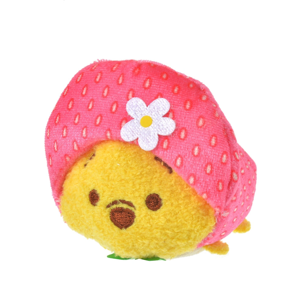 Winnie the Pooh Tsum Tsum Plush mini S Strawberry Ichigo 2021 Disney Store Japan