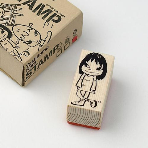 Nara STAMP wood / M size Girl Yoshitomo Nara Japan Art