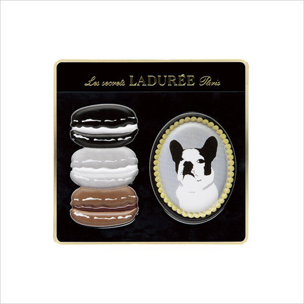 Laduree Macaron Japan Sticker Sharuri French Bulldog Black