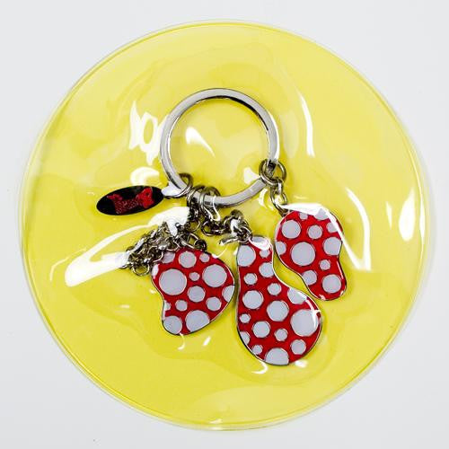Yayoi Kusama Key Ring Dots Obsession Pumpkin Red Japan Artist
