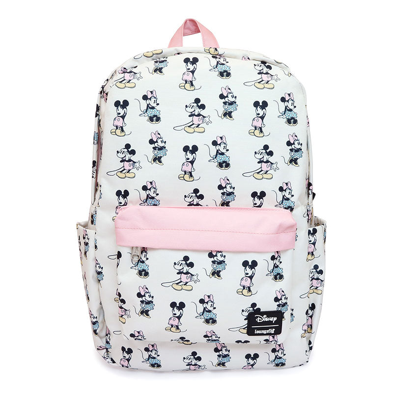 Mickey & Minnie Backpack Pastel Pink Loungefly Disney Store Japan