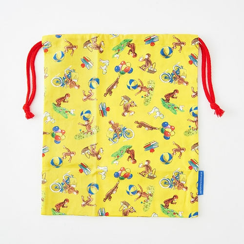 Curious George Drawstring Lunch Bag L Japan K10073