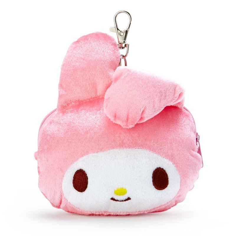 My Melody Plush Pass Case Bent Ear Pink Sanrio Japan