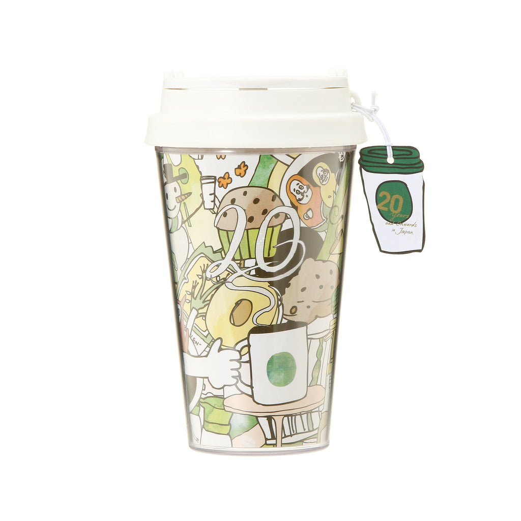 Charm Tumbler Party White 355ml 20th Anniversary Starbucks Japan