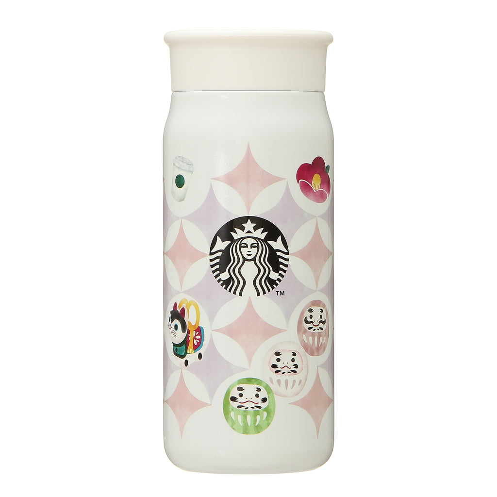 Stainless Bottle 355ml Icon White New Year 2021 Starbucks Japan