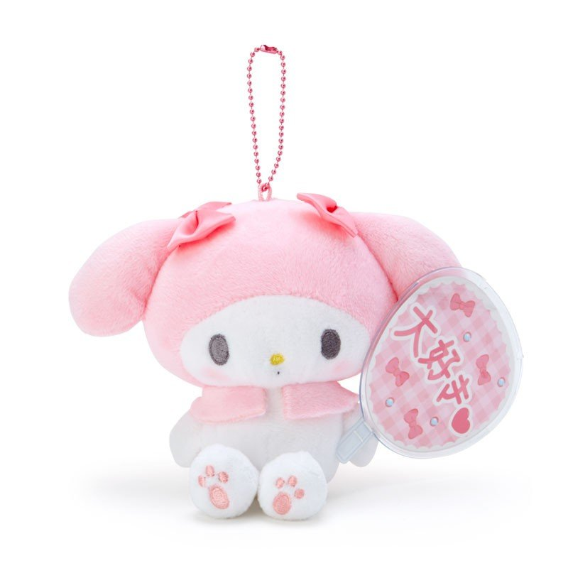 My Melody Plush Mascot Holder Keychain Fan Enjoy Idol Sanrio Japan