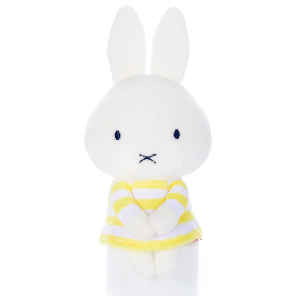 Miffy Chokkirisan mini Plush Doll Stripes Yellow Takara Tomy Japan