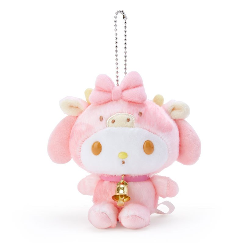 My Melody Plush Mascot Holder Keychain Zodiac Cow Sanrio Japan New Year 2021
