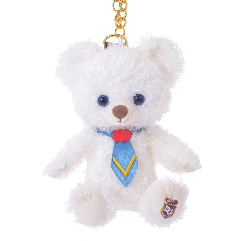 UniBEARsity Whip Plush Keychain Sitting Disney Store Japan