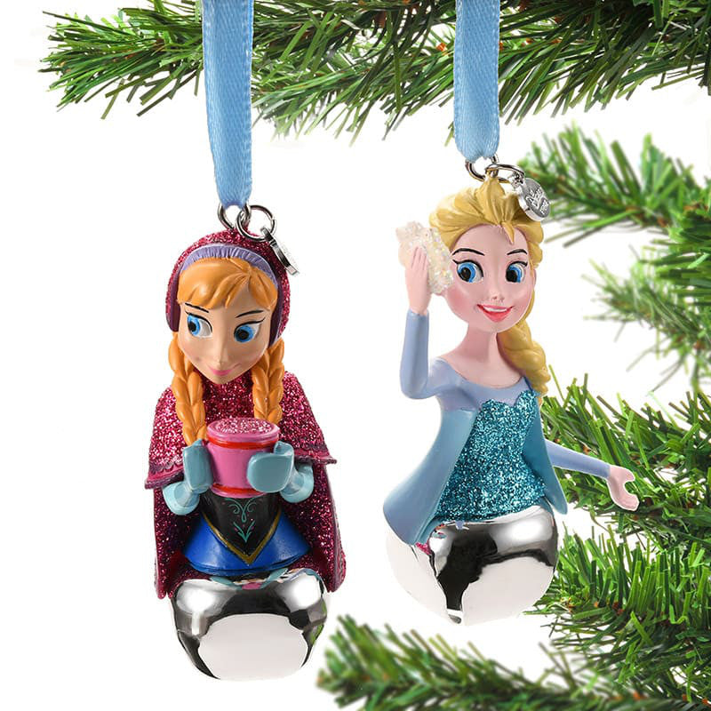 Frozen Anna & Elsa Christmas Tree Ornament with Bell Disney Store Japan 2018