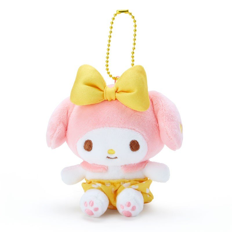 My Melody Plush Mascot Holder Keychain Yellow Recommend Color Sanrio Japan