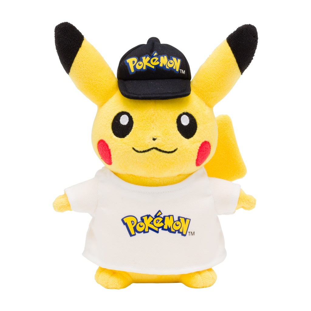 Pikachu Plush Doll Logo Pokemon Center Japan