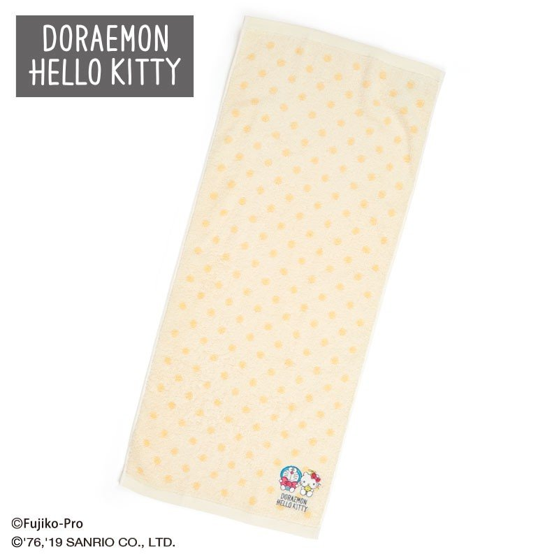 Doraemon & Hello Kitty Face Towel Sanrio Japan 2019