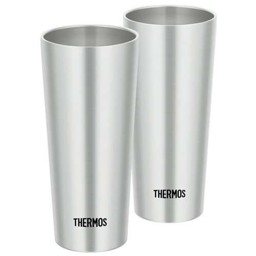 Vacuum double structure Stainless Tumbler 400ml 2pcs JDI-400P-S Thermos Japan
