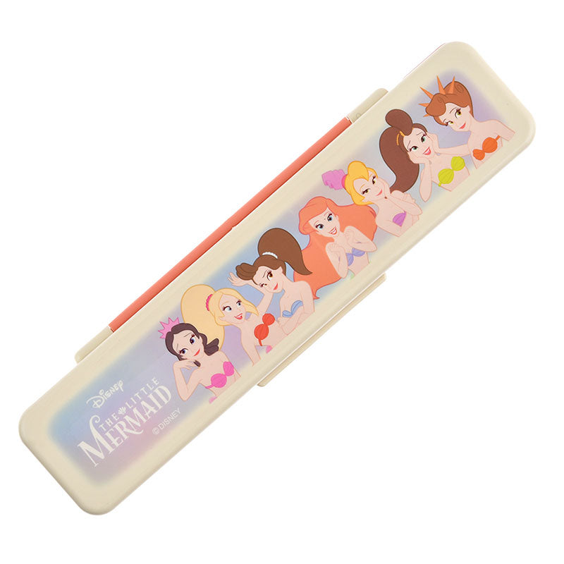 Little Mermaid Ariel Chopsticks & Spoon Set Case Sister Disney Store Japan
