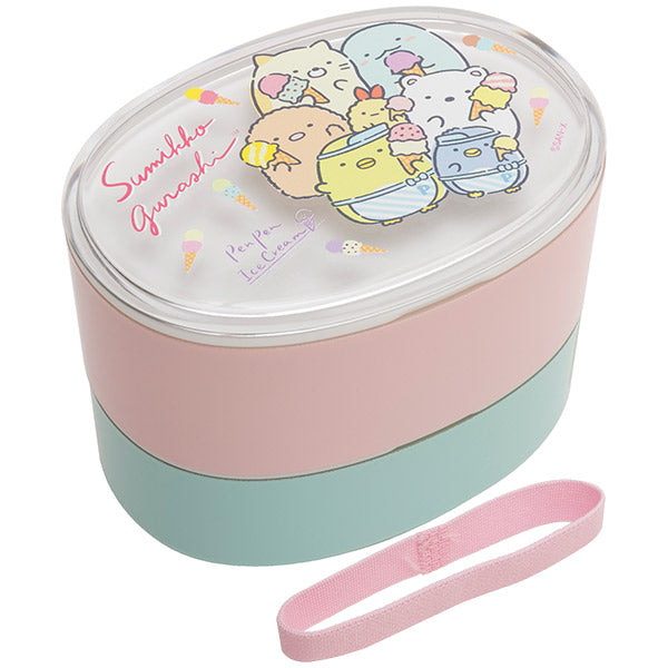 Sumikko Gurashi 2Stage Lunch Box Bento Pen Pen Ice Cream San-X Japan