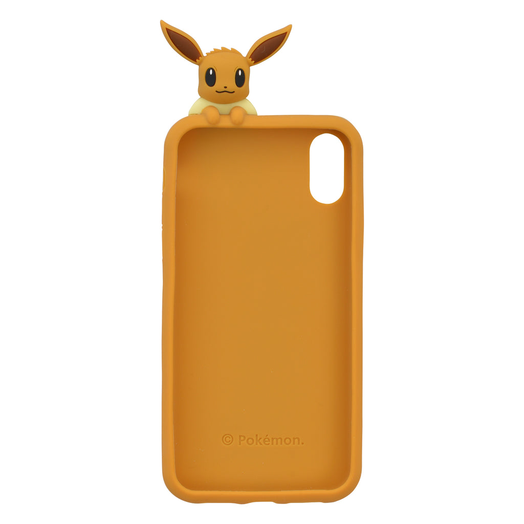 Eevee Eievui Silicone iPhone XR Case Cover Peeks behind Pokemon Center Japan