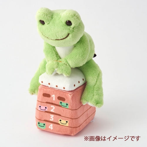 Pickles the Frog Costume for Bean Doll Plush Jump Box & Mat Japan