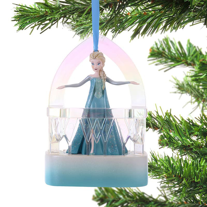 Elsa Christmas Tree Ornament Singing Disney Store Japan 2018