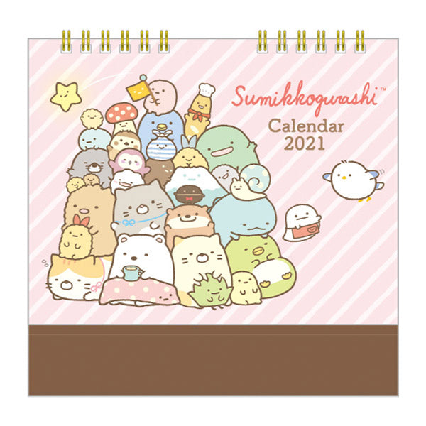 Sumikko Gurashi Calendar Desktop 2021 Together San-X Japan