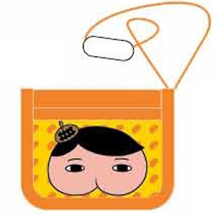 Oshiritantei Butt Detective Wallet A Orange Japan