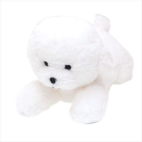 Hizawanko Knee Dog Bichon Frise Plush Doll White Sunlemon Japan