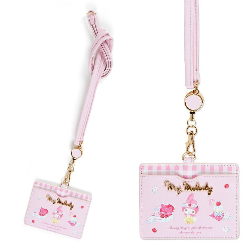 My Melody ID Card Case Pink HAPPY SPRING Sanrio Japan