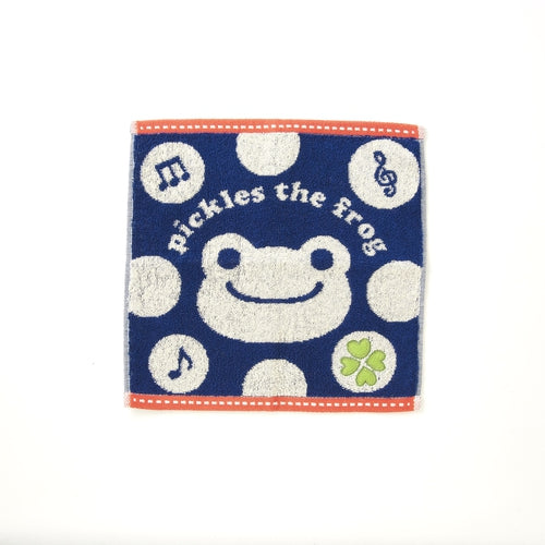 Pickles the Frog Applique mini Towel Face Blue Japan