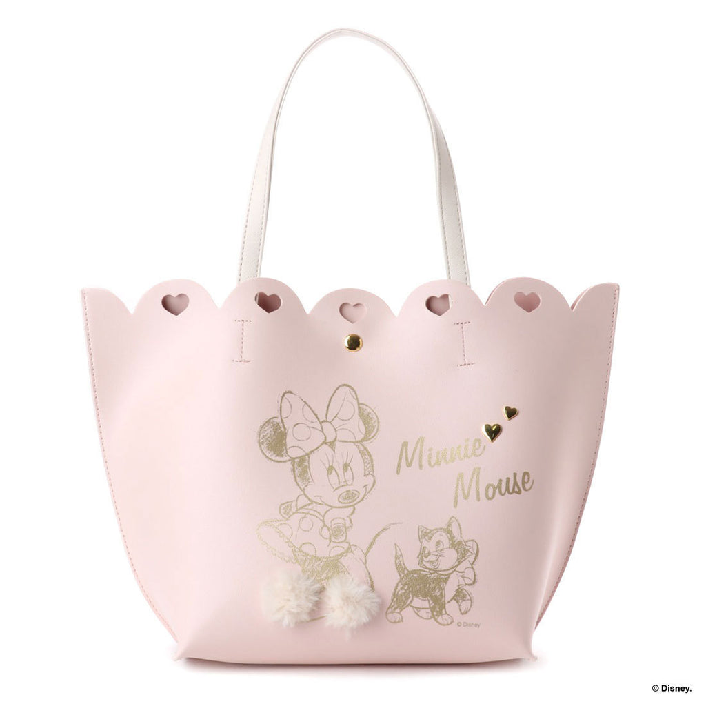 Minnie Tote Bag Pink Heart Floral Corolle D23 Disney COLORS Jennifer sky Japan