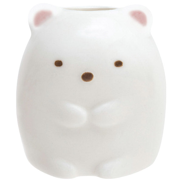 Sumikko Gurashi Shirokuma Bear Pottery Toothbrush Stand San-X Japan