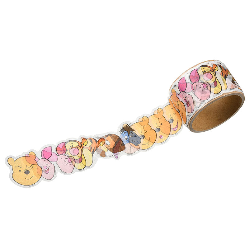 Winnie the Pooh & Friends Roll Sticker Face Disney Store Japan