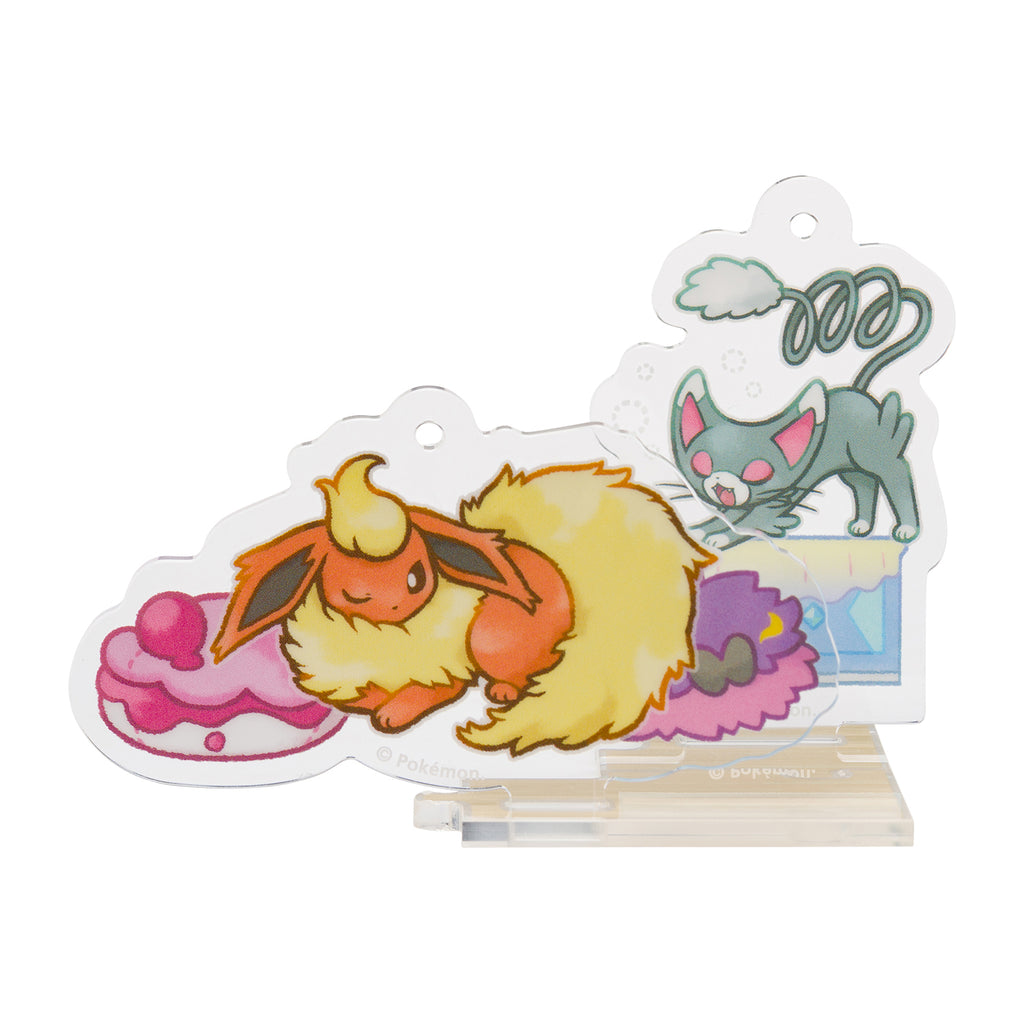 Flareon Booster Glameow Nyarmar Acrylic Charm Snorlax Yawn Pokemon Center Japan