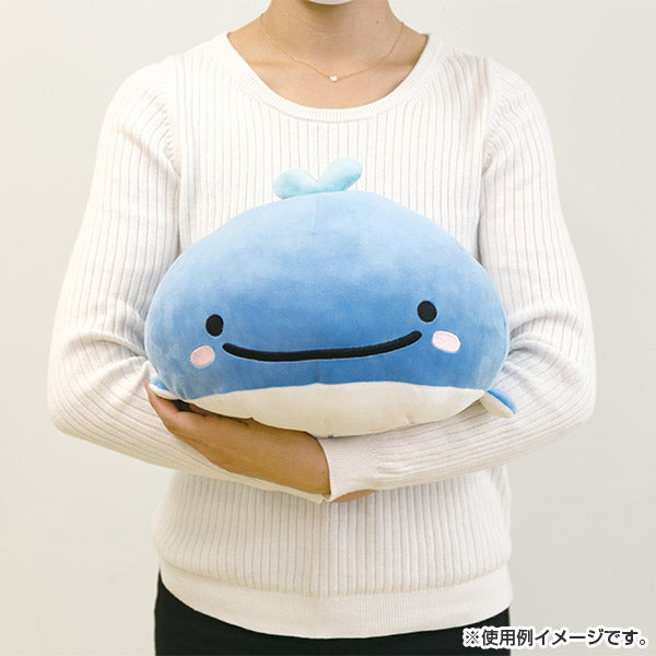 Kokujira Whale Super Mochi Soft Body Pillow Kokujira's Dream San-X Japan