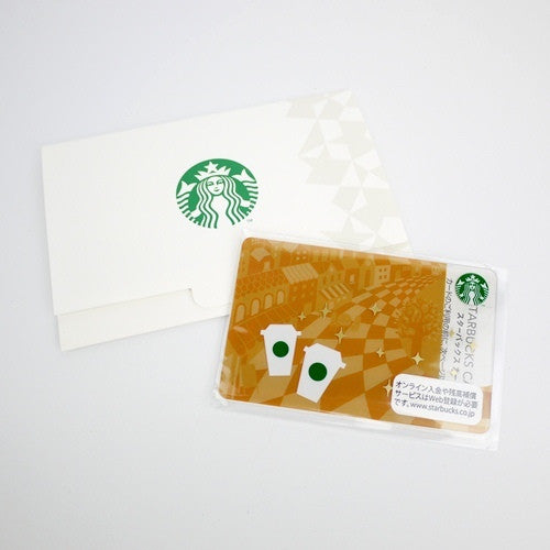 Starbucks Japan 2012 Promenade Gift Card 10th anniversary w/ sleeve