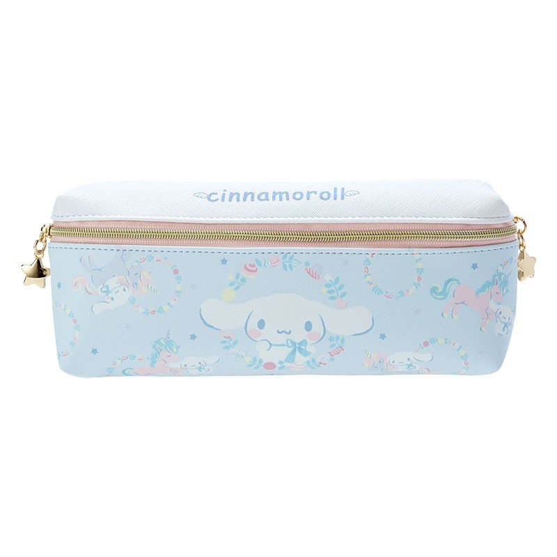 Cinnamoroll Double Zipper Pen Case Pencil Pouch Unicorn Sanrio Japan